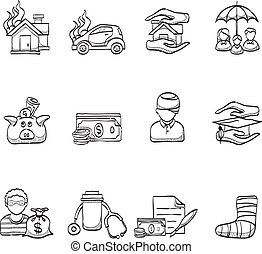 Sketch Icons - Insurance