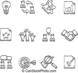 Sketch Icons - Management - Management icon series in...