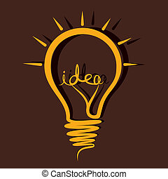 sketch idea bulb stock vector