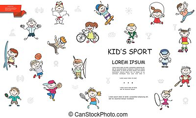 Sketch Kids Sport Colorful Collection