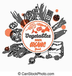 Sketch Label Organic Food