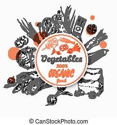 Sketch Label Organic Food