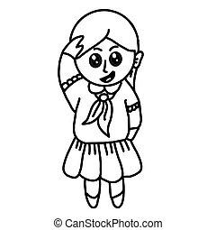 Sketch Little girl character