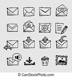 sketch mail icon