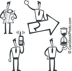 Sketch man - Vector illustration of a simple sketch...