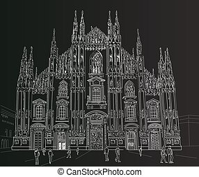 Sketch Milan Cathedral