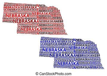 Nebraska map - Sketch Nebraska (United States of America,...