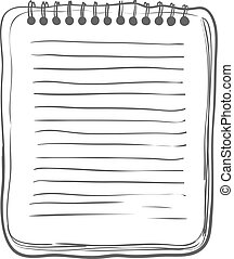 Sketch Notebook on white background Vector Illustration