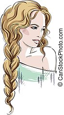 beautiful girl with braid