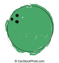 Sketch of a bowling ball