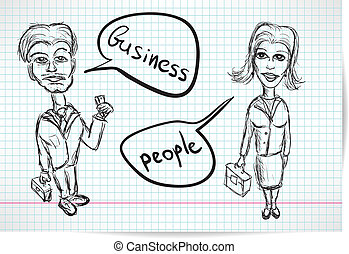 Sketch of a businesswoman