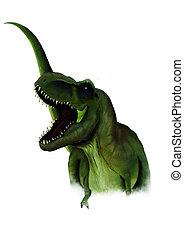 sketch of a cartoon dinosaur in illustartion