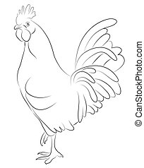Sketch of a Cock
