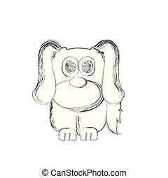 Sketch of a cute dog