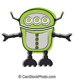 Sketch of a cute robot