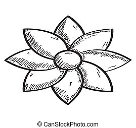 Sketch of a flower