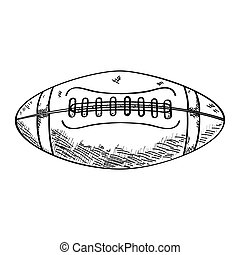 Sketch of a football ball
