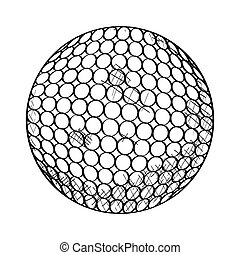 Sketch of a golf ball