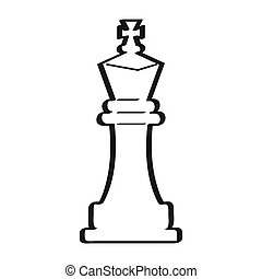 Sketch of a king chess piece