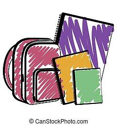 Sketch of a school supplies