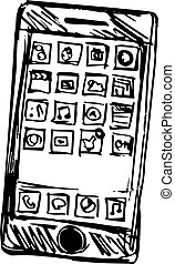 Sketch of a smart phone