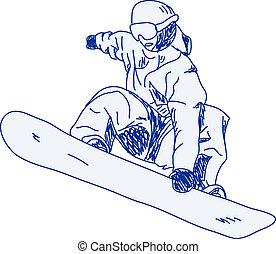 snowboarder - sketch of a snowboarder