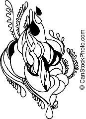 sketch of a vegetative ornament