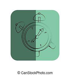 sketch of alarm clock in square frame