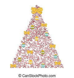 Sketch of an abstract christmas tree