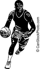 Sketch of basketball player