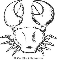 Sketch of big ocean crab