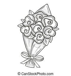 Sketch of bouquet
