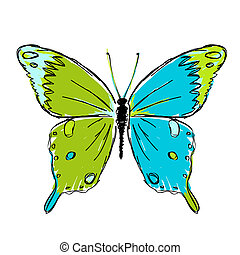 Sketch of butterfly for your design
