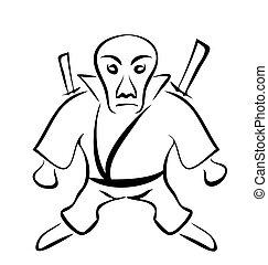 Sketch of Character Ninja