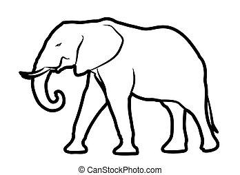 Sketch of elephant.