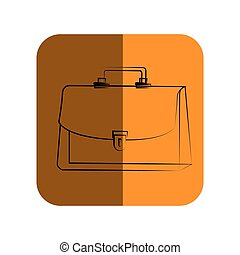 sketch of executive suitcase in square frame