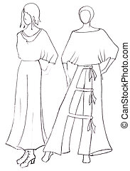 dress design by peasant motifs