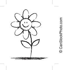 sketch of flower