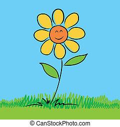 Sketch of Flower vector
