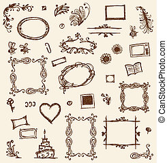 Sketch of frames, hand drawing for your design