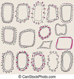 Sketch of frames, hand drawing for your design.