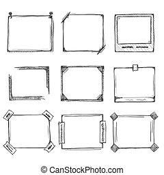 Sketch of hand drawn frame set.