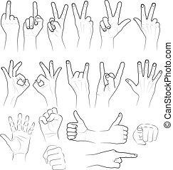 sketch of hands