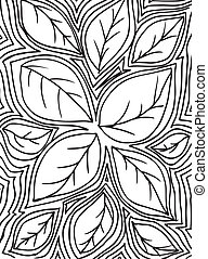 sketch of leafs, abstract background. Vector illustration