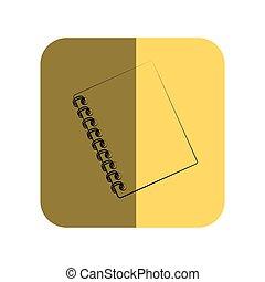 sketch of notebook spiral in square frame