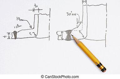 Sketch of Nozzle Welding Joints
