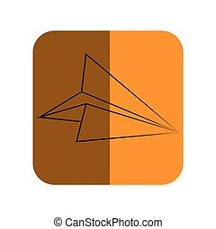 sketch of paper airplane in square frame