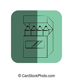 sketch of pencils box in square frame