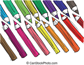 sketch of pencils pattern. Vector illustration