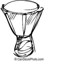 sketch of percussion instruments orchestra
